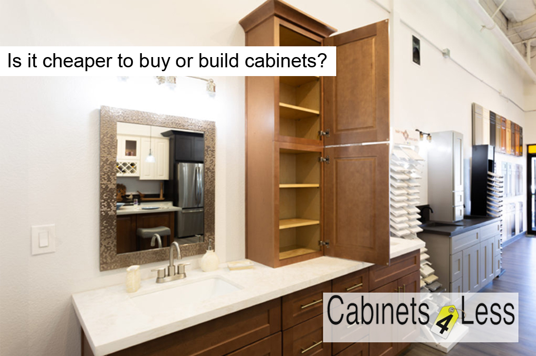 Is it cheaper to buy or build cabinets?