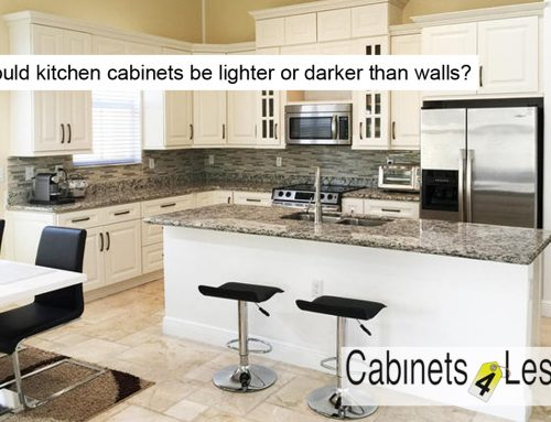 Should kitchen cabinets be lighter or darker than walls?
